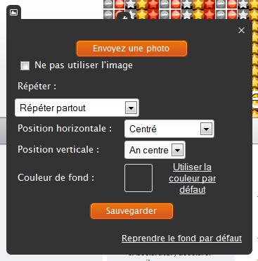 Configuration du fond d'écran