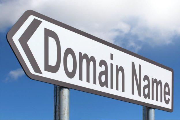 """Panneau de signalisation """"Domain name"""""""