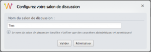Configuration du module de discussion instantanée