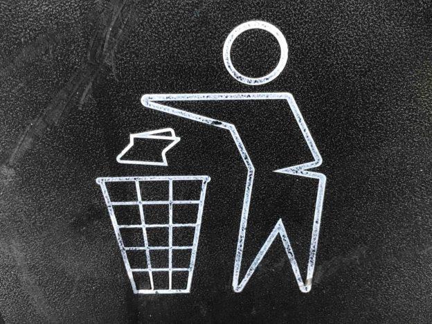 Pictogramme d'une poubelle