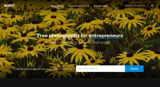 Site web de la Burst par Shopify