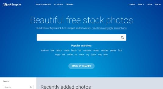 Site web de StockSnap