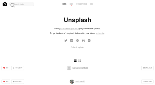 Site web de Unsplash
