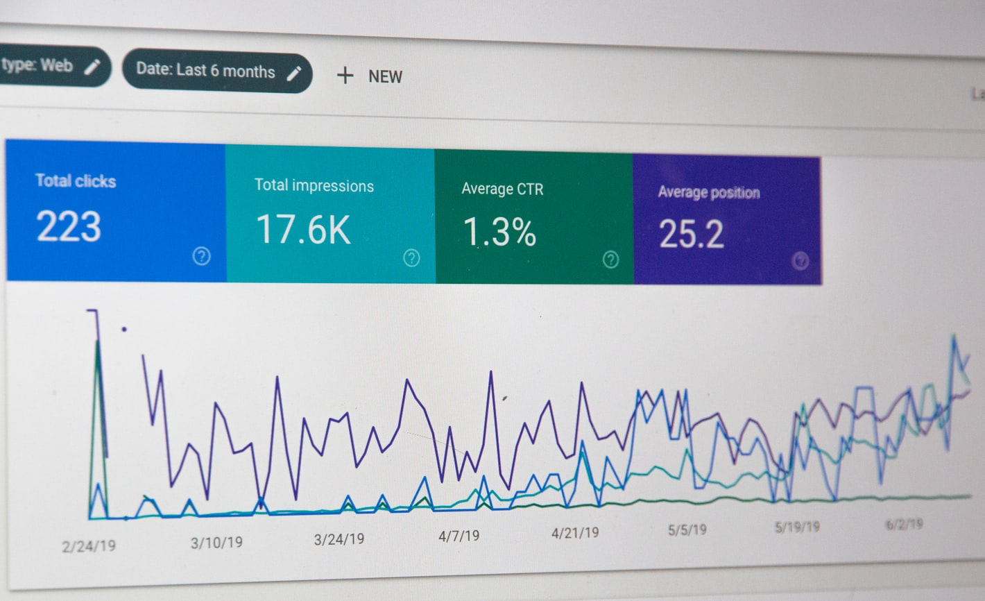 Interface de Google Search Console